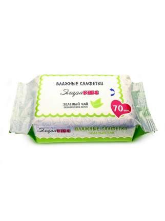 Влажные салфетки ЭлараKids Зеленый чай, 70 шт