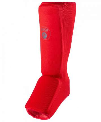 Защита голень-стопа Rusco Sport, хлопок, красный (XS)
