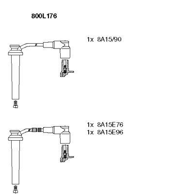 Комплект проводов зажигания BREMI 800L176