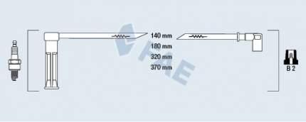 Комплект проводов зажигания FAE 85115