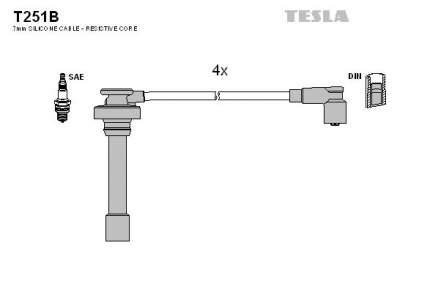 Комплект проводов зажигания TESLA T251B