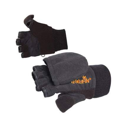 Перчатки-варежки мужские Norfin Junior, серые/черные, L