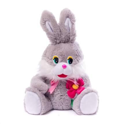 Мягкая игрушка Заяц средний с цветком 55 см Нижегородская игрушка См-369-ц-5