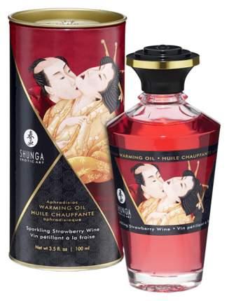 Массажное масло Shunga с ароматом клубничного вина 100 мл