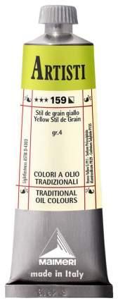 Масляная краска Maimeri Artisti стил де грэн желтый 40 мл