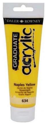 Акриловая краска Daler Rowney неаполитанский желтый 120 мл
