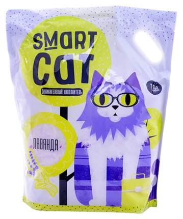 Впитывающий наполнитель для кошек Smart CAT силикагелевый, лаванда, 3.32 кг, 7.6 л