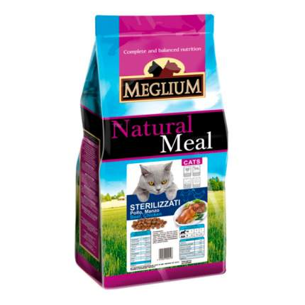 Сухой корм для кошек Meglium Neutered, для стерилизованных, говядина, курица, 1,5кг