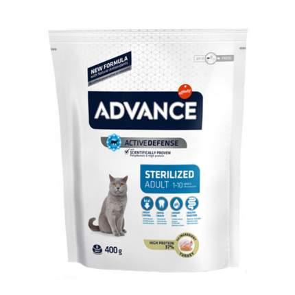 Сухой корм для кошек Advance Sterilized, для стерилизованных, индейка, 0,4кг