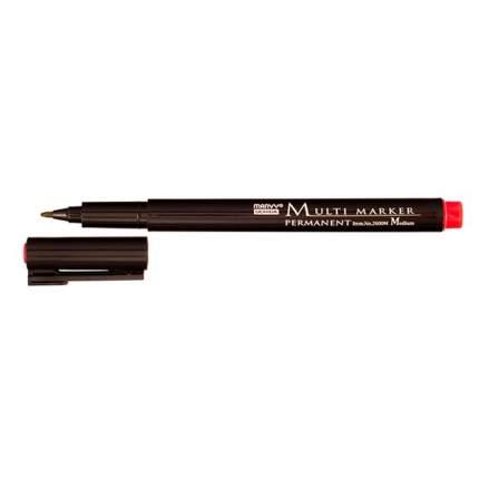 Маркер перм, Multi Marker для всех поверхностей 0,8-1 мм красный MAR2600M/2