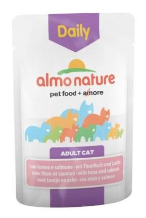 Влажный корм для кошек Almo Nature Daily, лосось, тунец, 30шт, 70г