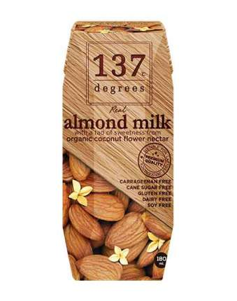 Молоко миндальное 137 Degrees без сахара 180 мл