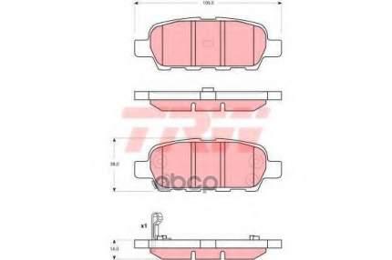 Тормозные колодки TRW/Lucas GDB3294