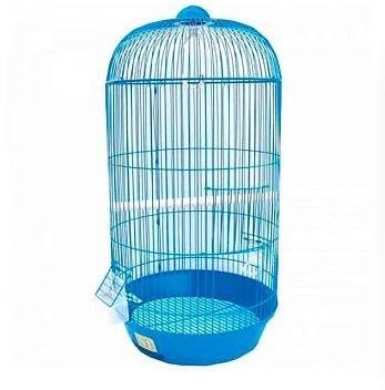 Клетка для птиц №1, круглая, высокая, укомплектованная, 33 х 33 х 67 см