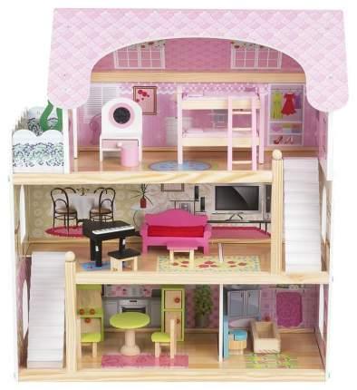 Кукольный дом Edufun с комплектом мебели 62,5x31x70