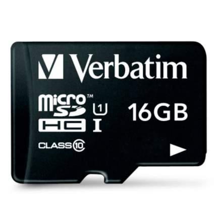 Карта памяти Verbatim Micro SDHC 16GB