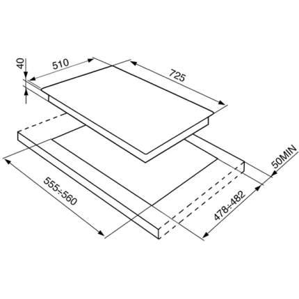 Встраиваемая варочная панель газовая Smeg P1752X Silver