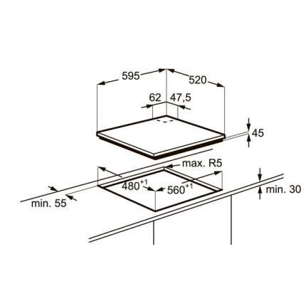 Встраиваемая варочная панель газовая Electrolux EGT96647LW White