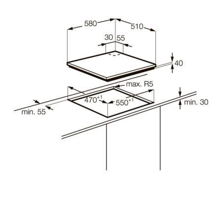 Встраиваемая варочная панель газовая Zanussi ZGO62414BA Black