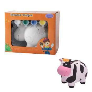 Набор для творчества Bondibon копилка-подарок коровка