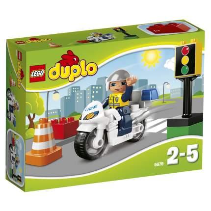 Конструктор LEGO Duplo Town Полицейский мотоцикл (5679)