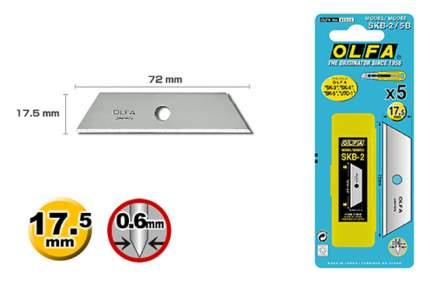 Сменное лезвие для строительного ножа OLFA OL-SKB-2/5B