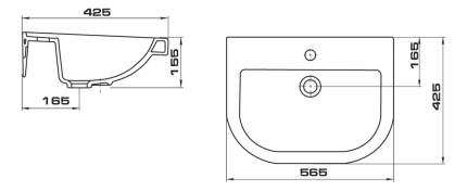 Раковина подвесная Santeri Pro 1.3115.5.S00.10B.0 белый