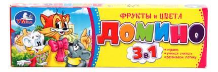 Семейная настольная игра Умка Домино Кот Леопольд - Фрукты и цвета