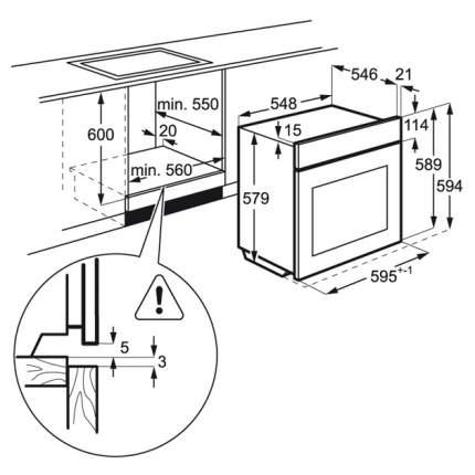 Встраиваемый электрический духовой шкаф AEG BPR742320B Black
