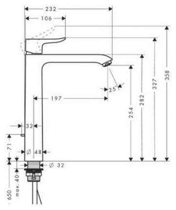 Смеситель для раковины Hansgrohe Metris 31082000 хром
