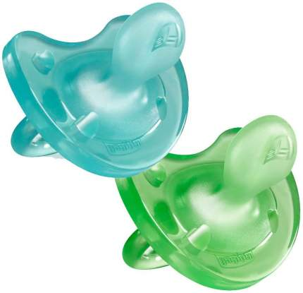 Пустышка Chicco Physio Soft 2 шт (6-12 мес) для мальчиков