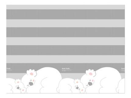 Коврик игровой 2-х сторонний Prime Living коалы/слоники за хвостики DS-821-ID-KFET
