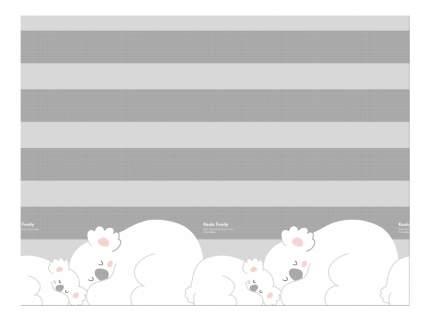Двухсторонний коврик Parklon Prime Living Коалы/Слоники за хвостики  DS-821-ID-KFET