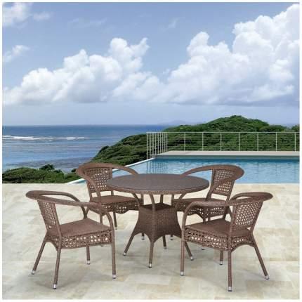Комплект мебели Afina Garden T220CT/Y32-W56 Light brown (4+1)