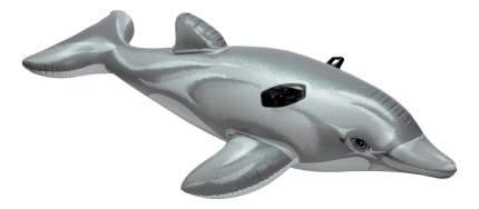 Надувной плотик-круг Дельфин с держателем Intex 58535