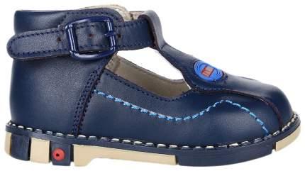 Туфли Таши Орто синие с голубой строчкой