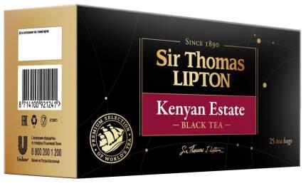 Чай черный Lipton sir Thomas kenyan estate 25 пакетиков