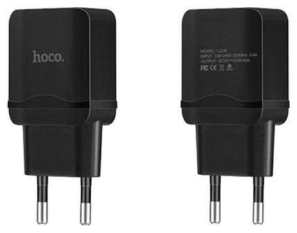 Сетевое зарядное устройство Hoco C22A 1 USB 2,4A Black