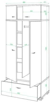 Шкаф платяной КС-20