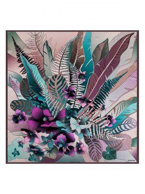 Платок женский Eleganzza E03-7201 фиолетовый/бирюзовый
