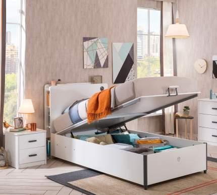 Кровать с подъемным механизмом Cilek White 100х200 см, белый
