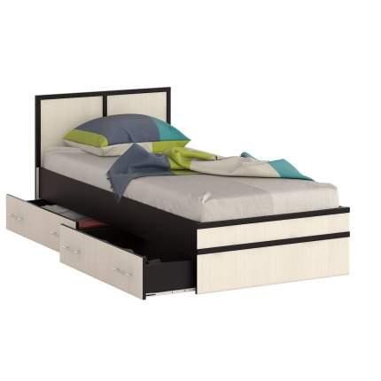 Кровать 0900 СВК Сакура венге/дуб лоредо, 93,5х203,5х80 см