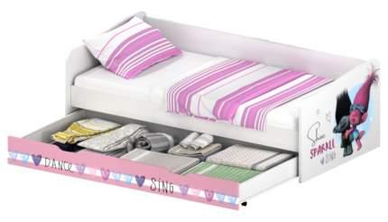 Кровать детская выдвижная Polini kids Fun 4200 Тролли розовая