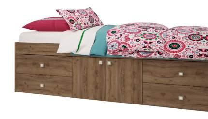 Кровать детская Polini kids Simple 3100 с 4 ящиками, дуб