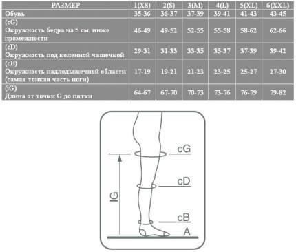 Чулки Ergoforma 201 компрессионные 15-17 мм рт.ст. черный р.6