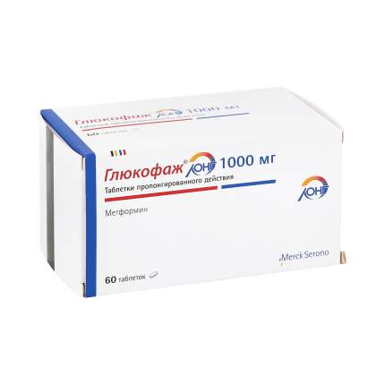 Глюкофаж Лонг таблетки 1 г 60 шт.