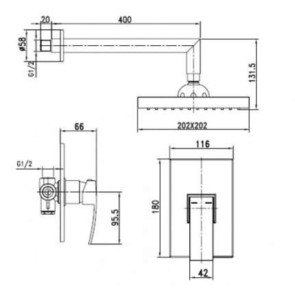 Смеситель для встраиваемой системы Kaiser Sonat 34277