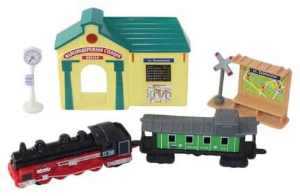 Железнодорожный набор Wincars Железнодорожная станция 30518