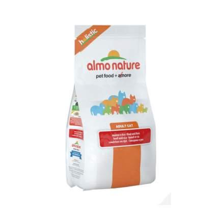 Сухой корм для кошек Almo Nature Holistic, говядина и коричневый рис, 2кг