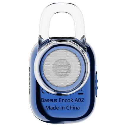 Наушники беспроводные Baseus Encok A02 In-ear Finger Touch Plated Single Mini Blue